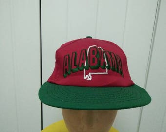 Rare Vintage ALABAMA Embroidered Cap Hat Free size fit all Made in USA