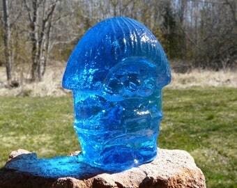 Vintage Glass Troll figurine. Pukeberg Sweden.
