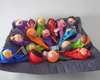 Muñeca de papel, decoración de la muñeca, fofuchas de la espuma