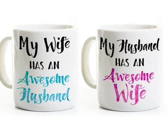 His And Her Wedding Anniversary Gifts : 50th Anniversary Gift His and Her Coffee Mugs 50 Years