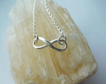 Silver Infinity Pendant - Eternal Love Necklace - Figure 8 Pendant - Sterling Silver