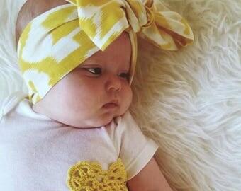 Block Print Soft Cotton Head wrap, baby head wrap, kids head wrap, kids turban, baby turban, baby bow headband, hippie kids head wrap
