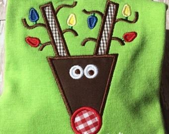 Applique Christmas Reindeer Shirt
