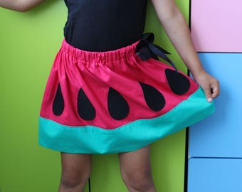 Watermelon skirt/Party wear/Cotton skirt/Fancy dress/Kids skirt