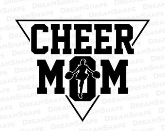 Cln036 Cheer Mom Mother Cheerleader Cheerleading Svg Dxf