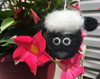 Needle Felted Black Sheep Ornament, Needle Felted Black Sheep Decoration, Needle Felted Black Sheep