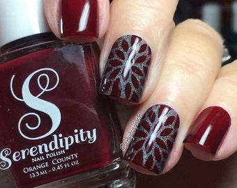 Flower Burst Nail Vinyl Fingernail Art Stencils