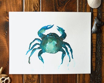 Feelin' Crabby - Watercolor Painting