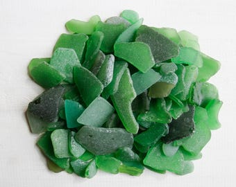 Bulk Green 200 Japanese Sea Glass,Green Sea Glass mobile supply,suncatcher supply,Coastal Home Decor,Mosaic,Spring Wedding Decor