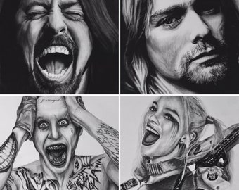 Custom Charcoal Drawings