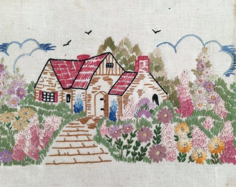 Vintage Embroidery Sampler LATE 1940'S