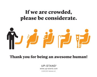 Priority Seating Signs - Increase accessibility for your business or organization!