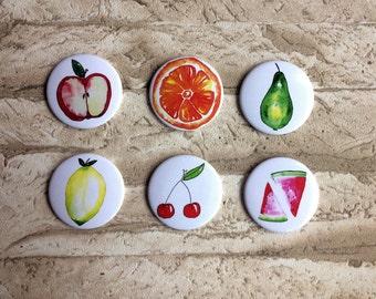 6 he set magnets fruit