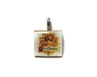 Harry Potter Gryffindor Logo Style Charm, Key Chain or Necklace