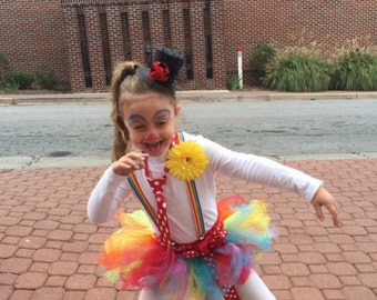Girl's 4/5 Clown Costume