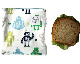 Sandwich bag washable - fabric ziploc bag - bag to washable snack machine - bag lunch - zero waste - zero waste product