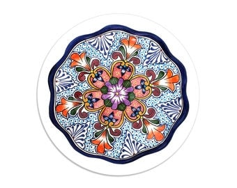 Wilderness - Talavera sticker seals - 1.5 inch round stickers - pack of 8