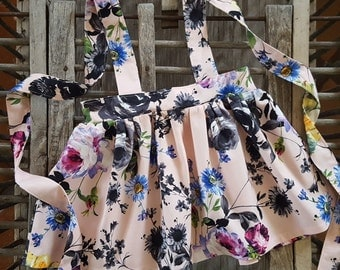 Kennedy Suspender Skirt in Rose floral