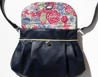 Handbag blue and liberty Japanese style