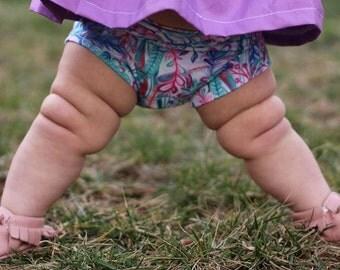 Floral bloomer shorts, baby shorts, baby girl shorts, toddler shorts, bummies