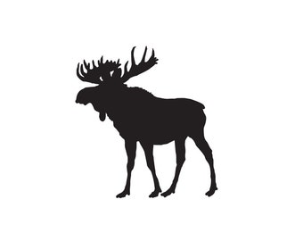 Moose Decal - Moose Decor / Moose Sticker / Wall Decal / Wall Sticker