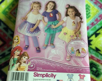 Sinplicity 1432 toddler Disney princess skirts pattern