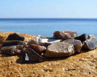 30 pebble flint stones raw minerals fire stones healing stones chakra stones raw stones healing gifts healing gemstones healing properties