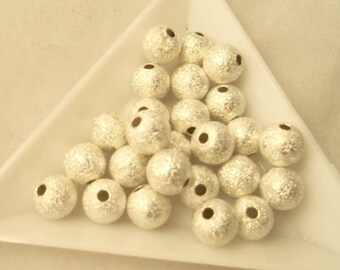 8 mm Stardust Beads (1854S) - Silver
