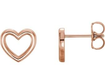 Simple love heart earrings