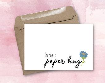 Greeting Card - Paper Hug
