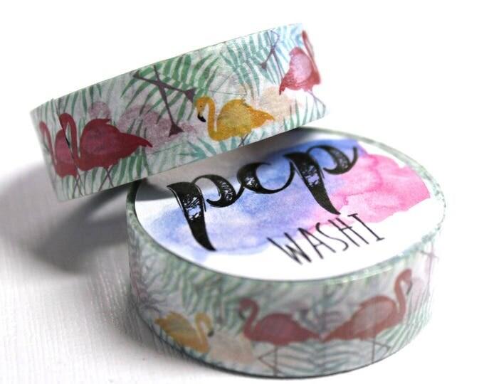 Washi Tape - Flamingo Washi Tape - Tropical Washi Tape - Paper Tape - Planner Washi Tape - Washi - Decorative Tape - Deco Paper Tape