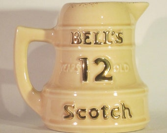 Vintage Bell's Scotch Whisky Bell Shaped Water Pitcher