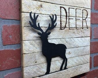 Deer, Rustic Deer Wall Decor, Deer decor, Rustic Deer, wall art, Deer art, Cabin decor, Rustic decor