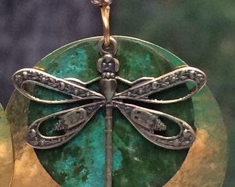 Dragonfly earrings, dragonfly jewelry, golden dragonfly earrings