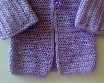 Had crochet baby cardigan