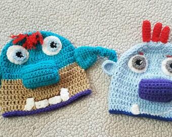 Crochet Wallykazam or Bobgoblin Hat, Wallykazam hats, crochet hats, gifts for kids, handmade gifts