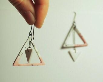 HE3/ Porcelain pendant earrings