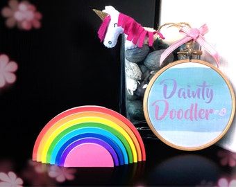 Rainbow Sticky Notes / Paper / To-do list / Shopping list / Stationery / Desk / Office / Teacher