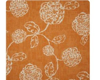 Orange with tan flowers