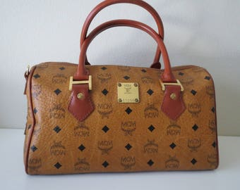 MCM Boston Bag Satchel Handbag Speedy 30 Vintage from 80's