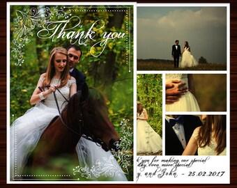 THANK YOU PHOTO Wedding Cards Photo Thank You Wedding Cards Wedding Photo Cards Thank You Thank You Wedding Cards With Photo Wedding  Diy