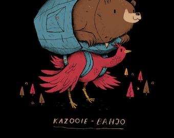 kazooie-banjo Banjo Kazooie T-shirt / rareware n64 / retro classic gaming