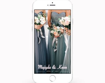 PERSONALIZED Snapchat Wedding Geofilter - Dotted Line
