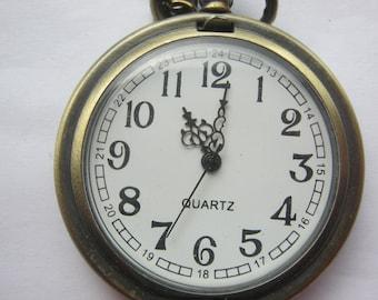 Ladies watch quartz with necklace, 40 cm long, jump Deckeluhr ca. 1990 Baterie New