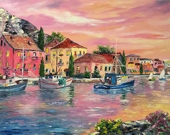 Oil Painting,landscape, Modern Art,50х70cm.Free shipping!