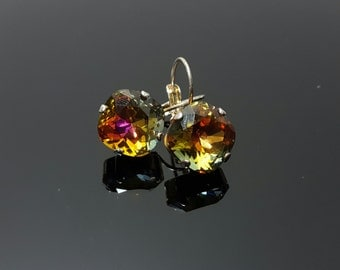 Swarovski Crystal dangle earrings 12x12 square