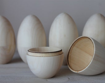 "Hollow Wooden Egg 4.33"" (11 cm)"