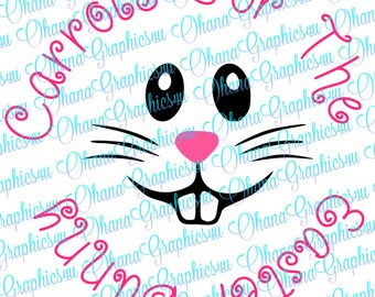 Easter Bunny Face for Carrot Plate SVG