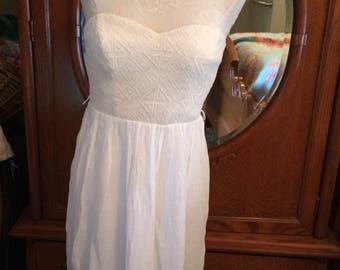 Little White Strapless Dress in a size 9