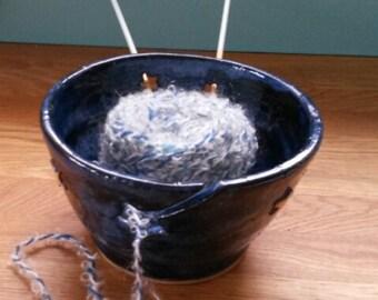 Night Sky Ceramic Yarn Bowl